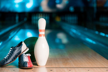 Selective Focus Of Bowling Sho...