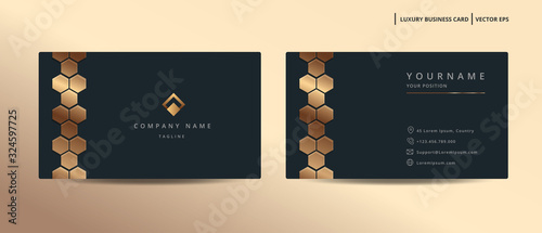 Cuadros en Lienzo Luxury design business card with gold style minimalist template