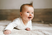 Smiling Baby Infant Crawling A...