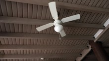 Ceiling Fan Rotating In An Caf...