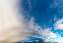 Fantastic Clouds Against Blue ...