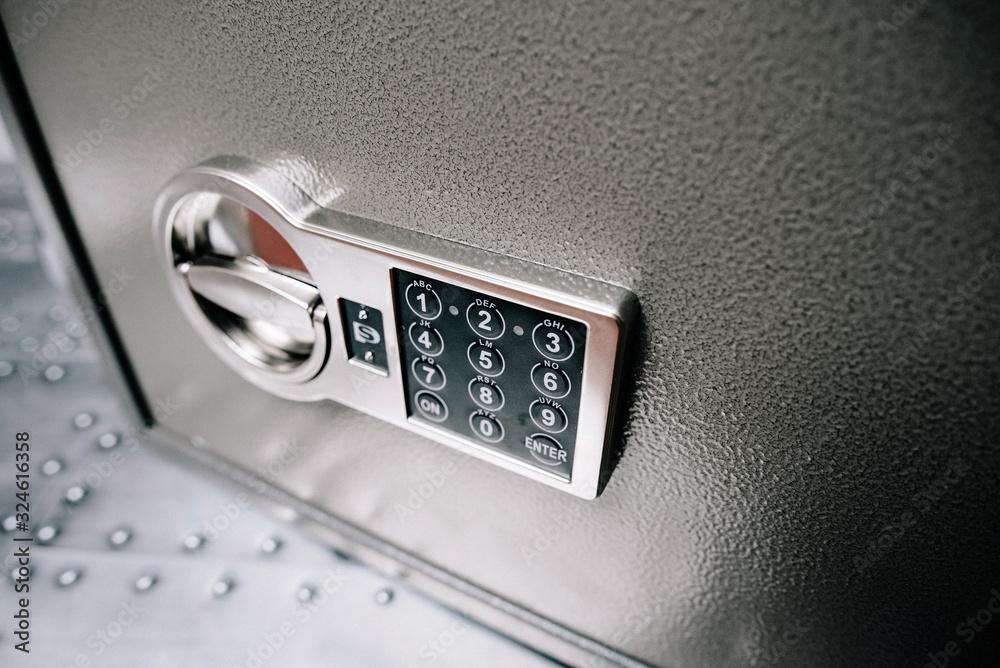 Fototapeta Code lock on the safe door.