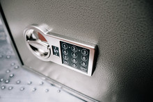 Code Lock On The Safe Door.