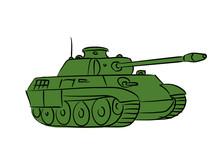 Green Battle Tank Isolated On ...