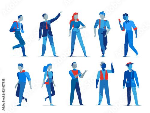 Photo Personaggi maschili e femminili per l'animazione