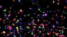 Seamless Funny Animation Of A Colorful Rainbow Confetti Isolated With Alpha