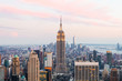 canvas print picture - new york skyline at dusk