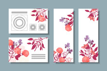Vector Floral Greeting Card. P...