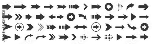 Arrow icon. Mega set of vector arrows Fototapeta