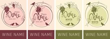 Wine Labels With Birds And Gra...