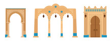 Set Of Indian Archs With Mosai...
