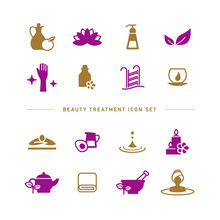 BEAUTY TREATMENT ICON SET
