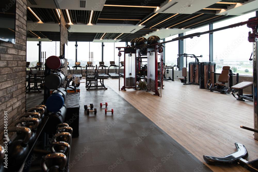 Fototapeta Gym Fitness Center Interior