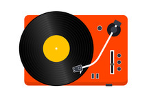 Vinyl Record Player. Player Fo...