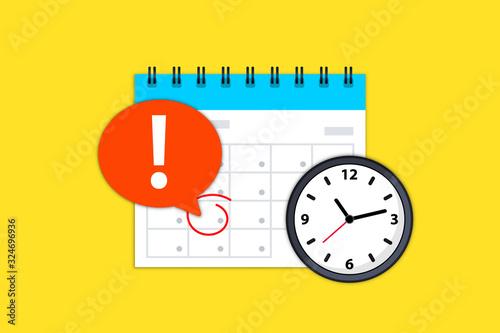 Fotografía Calendar and clock icon