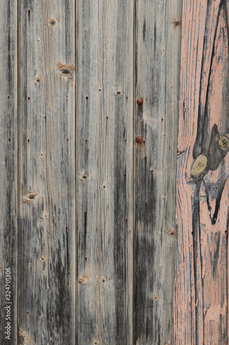 Obraz na plátně weathered wooden fence palings abstract textured background