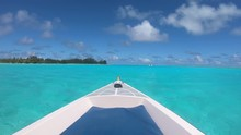 Sailing A Boat Around Blue Lag...