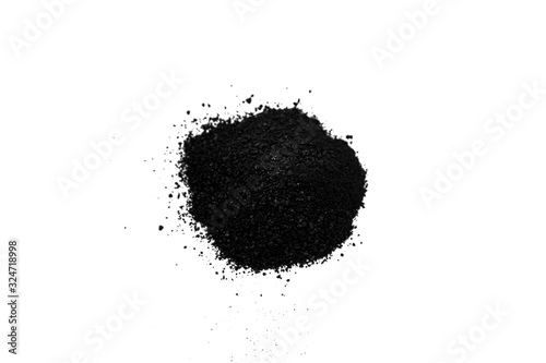 Black powder isolated on white as a background Wallpaper Mural
