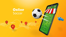 Soccer Online Concept With 3D ...