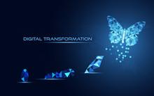 Abstract Business Digital Tran...