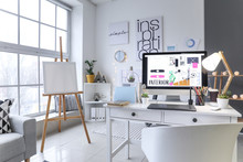 Interior Of Modern Office With...