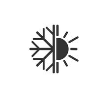 Hot, Cold Icon. Vector Illustr...