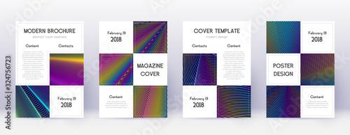Obraz Business brochure design template set. Rainbow abs - fototapety do salonu