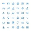 Editable 36 media icons for web and mobile