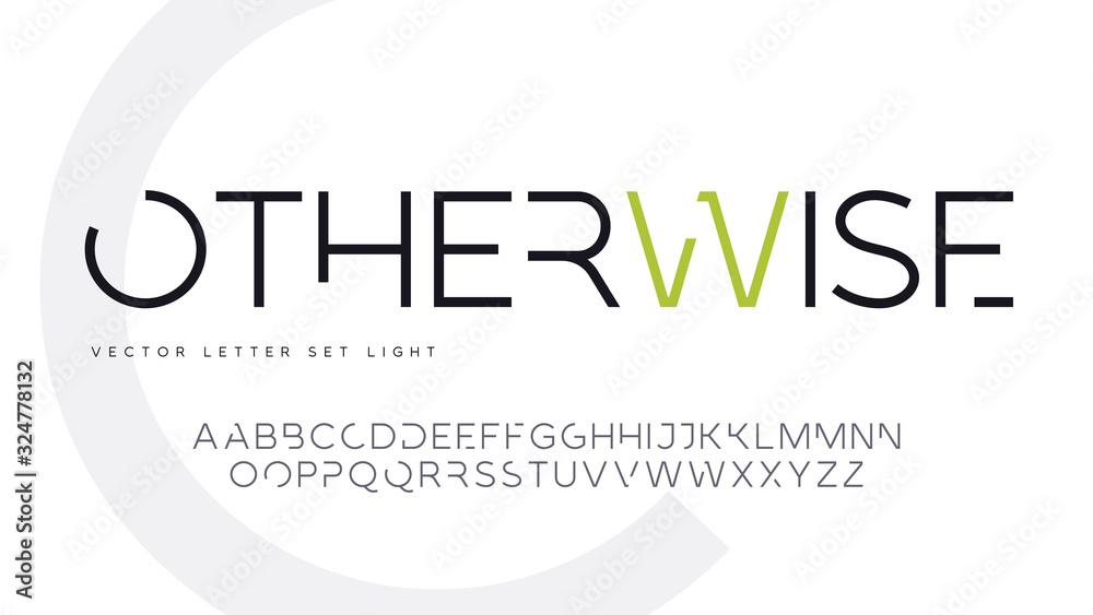Fototapeta Contemporary geometric uppercase letter set, vector alphabet, typography