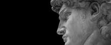 White Plaster Bust Portrait Sc...