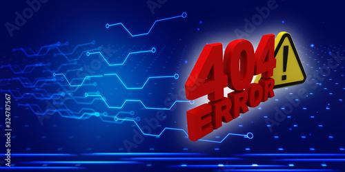 Fototapeta 3d rendering 404 error compliant obraz na płótnie