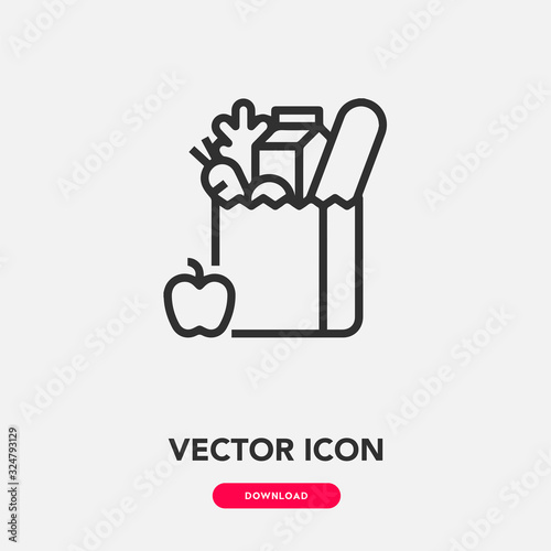 Fotomural grocery icon vector
