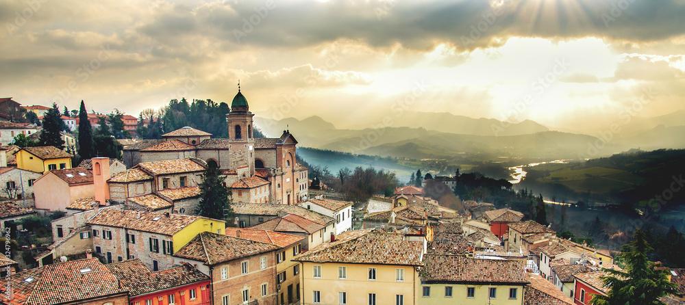 Fototapeta italy web banner horizontal background emilia romagna region Rimini province local landmarks