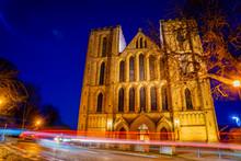 Cathedral Of Ripon At Night Wi...