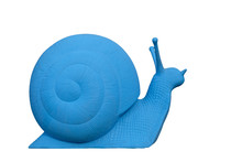 Big Blue Plastic Snail Isolate...