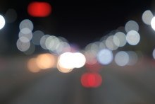Blurred Motion Light Of Car He...