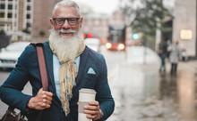 Senior Business Man Going To W...