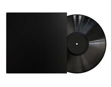 Black Vinyl Disc Record With B...