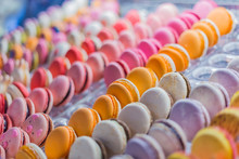Assortment Of Colorful Macaron...