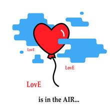 Hearth Balloon Flie Flies By P...