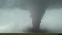 Tall Tornado In Open Prairie