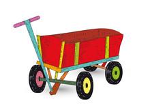 Bunter Bollerwagen Kleiner Transportwagen