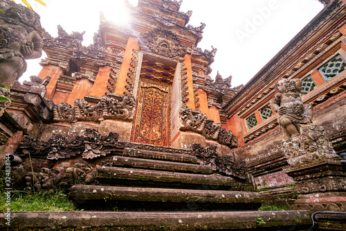 Architecture, traveling and religion. Hindu temple in Bali, Indonesia.
