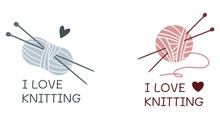 I Love Knitting. Yarn And Need...
