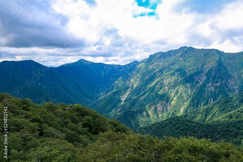 Fototapeta 群馬県 谷川岳 天神峠の風景 obraz na płótnie