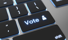 Vote Text Written On Keyboard ...