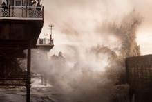 Dusk Waves At Brighton Pier