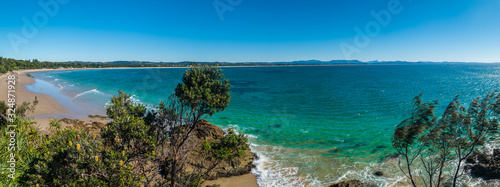 Photographie Turqoise ocean at beach Australia Byron Bay