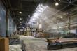 Leinwanddruck Bild - An empty production warehouse and industrial workshop