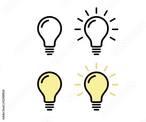 電球のアイコン/ピクトグラム/素材/電気 Canvas Print